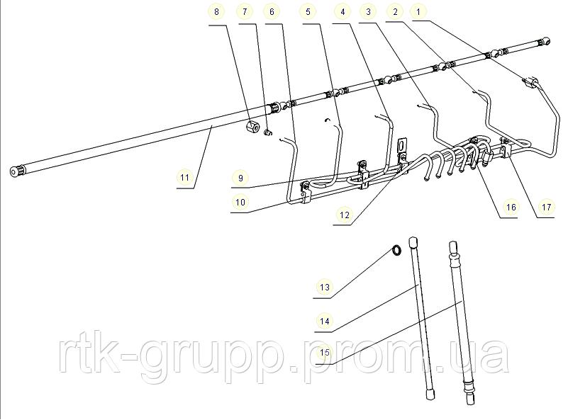 КАТАЛОГ Набор топливных трубок YC6108