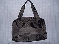 Cумка 114101 черная женская спортивная из полиэстера размер 40 см х 26 см х 17 см