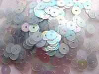Упаковка пайеток. Круглые, полупрозрачные, серо-голубые, 7 мм