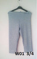Леггинсы W01 летние для девочки вискоза Wiktoria 01 длина 3/4 белые