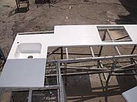 Столешница кухонная с мойкой из камня