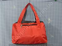 Cумка 114104 красная с черным женская спортивная из полиэстера размер 40 см х 26 см х 17 см спереди сеточка