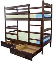 Кровать деревянная двухярусная