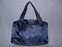 Cумка 114107 синяя женская спортивная из полиэстера размер 40 см х 26 см х 17 см
