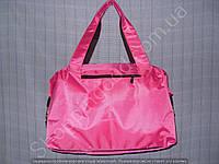 Cумка 114108 розовая женская спортивная из полиэстера размер 40 см х 26 см х 17 см