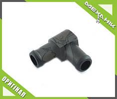 Колено соединительное 16 мм пластик