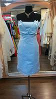 Голубое кружевное платье на выпускной Голубая логуна