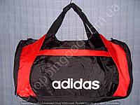 Багажная сумка Adidas 114109 малая (48 см х 27 см х 20 см) черная с красным спортивная дорожная из полиэстера