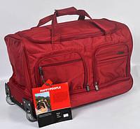 Красная дорожная сумка на колесах фирмы Gorangd