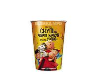 """Стаканы бумажные для попкорна """"Снупи и Чарли Браун"""" V24(0,8л), V46(1,5л), V85 (3л), V170(6л), Украина"""