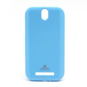 Чехол силиконовый на HTC One SV C520e / One ST T528t Mercury, голубой