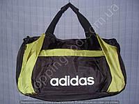 Багажная сумка Adidas 114110 малая (48 см х 27 см х 20 см) черная с салатовым спортивная дорожная полиэстер