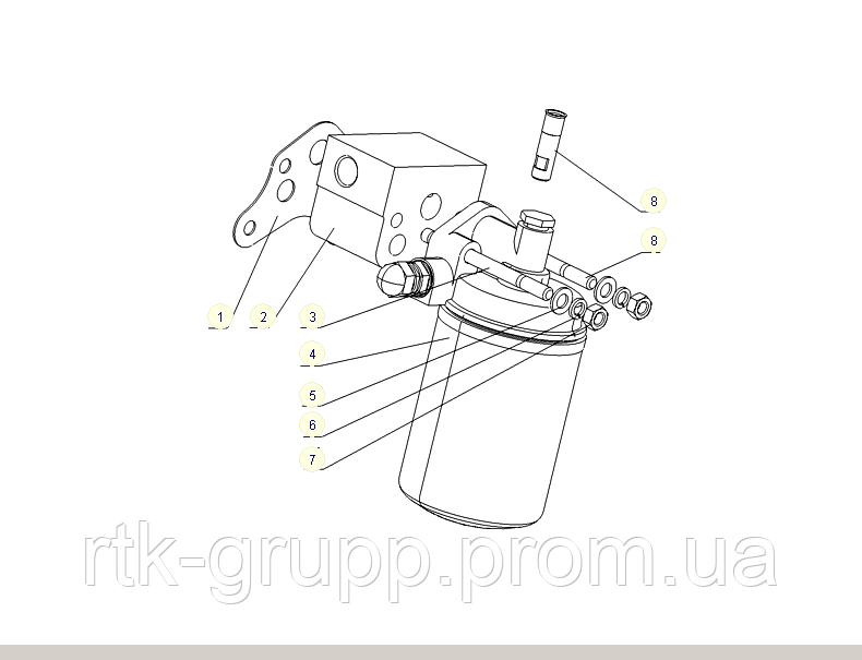 КАТАЛОГ Фильтр грубой очистки масла YC6108