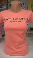 Женская футболка бренд Saint Laurent