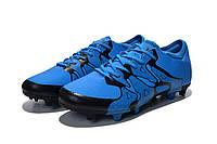 Мужские футбольные бутсы Adidas X 15.1 FG Blue Black, фото 1