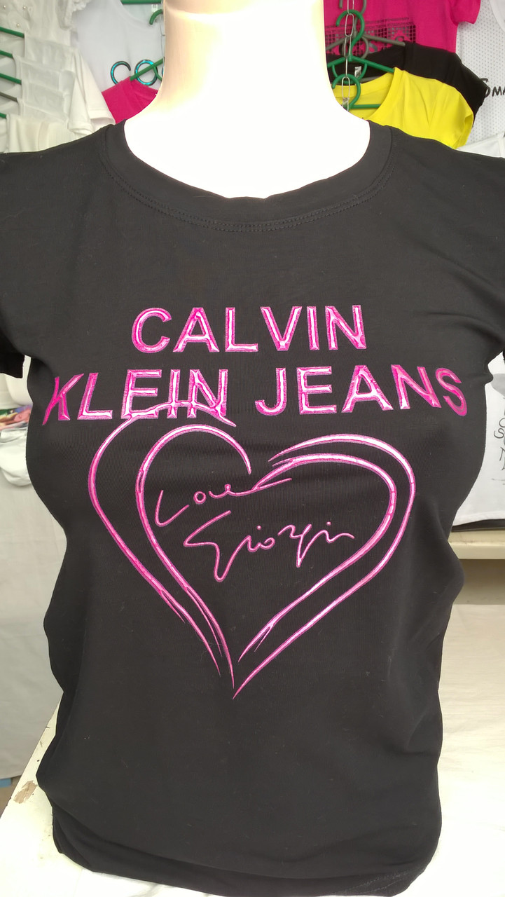 """Женская футболка бренд Calvin Klein -  Интернет магазин женской и детской одежды  """"Linda-Li"""" в Запорожье"""