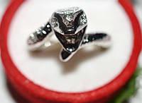Кольцо на руку, белый металл, белые стразы 23_5_4a19