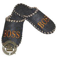 """Войлочные тапочки """"Boss"""", (серые)"""