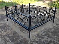 Ограда ритуальная кованая