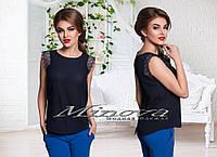 Блуза №8531-тем.синий