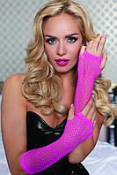 Длинные перчатки в сетку Hot Pink