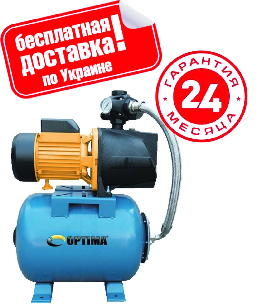 Насосная станция Optima JET100А-PL-24 1,1кВт чугун короткий, пластиковая крыльчатка.