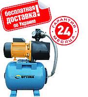 Насосная станция Optima JET100А-PL-50 1,1кВт чугун короткий, пластиковая крыльчатка.