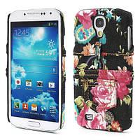 """Чехол пластиковый на Samsung Galaxy S 4 IV i9500 """"Jeans Fashion"""", черный"""