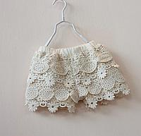 Літні шорти для дівчинки з мереживом