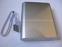 Внешний аккумулятор Power bank Xiaomi Mi 10400 mAh Silver (для телефона, смартфона, планшета)