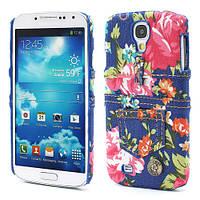 "Чехол пластиковый на Samsung Galaxy S 4 IV i9500 ""Jeans Fashion"", синий"
