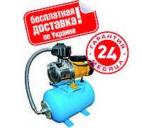 Насосная станция Optima JET100S-PL-50л.бак 1,1кВт нержавейка  пластиковая крыльчатка