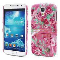 "Чехол пластиковый на Samsung Galaxy S 4 IV i9500 ""Jeans Fashion"", розовый"