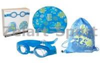 Набор для плавания детский:очки, шапочка, сумка  SPEEDO 8069510309(латекс, силикон,TPR)