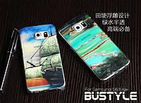 Обложка BUSTYLE 3D Half Transparent для Samsung Galaxy S6 Edge