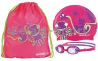 Набор для плавания детский:очки, шапочка, сумка  SPEEDO 8087710000(латекс, силикон,TPR)