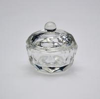 Стаканчик для мономера с крышкой круглый стеклянный