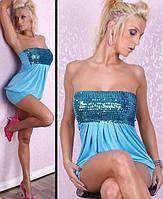 Платье с пайетками Д322