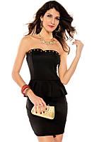 Черное платье с шипами LC2824-2