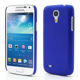 Чехол пластиковый матовый на Samsung Galaxy S IV S4 mini I9190, синий