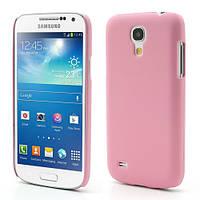 Чехол пластиковый матовый на Samsung Galaxy S4 mini I9190, розовый