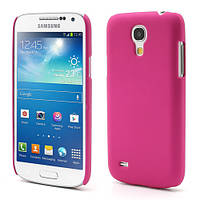 Чехол пластиковый матовый на Samsung Galaxy S4 mini I9190, малиновый