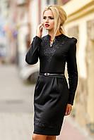 Строгое черное платье SV1008