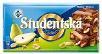 Шоколад молочный Studentska с грушей и арахисом Чехия 180г