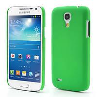 Чехол пластиковый матовый на Samsung Galaxy S4 mini I9190, зеленый