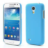 Чехол пластиковый матовый на Samsung Galaxy S4 mini I9190, голубой