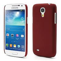 Чехол пластиковый матовый на Samsung Galaxy S4 mini I9190, бордовый
