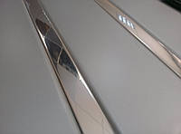 Реечный алюминиевый потолок металлик, вставка зеркальная, комплект
