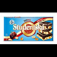 Шоколад черно-белый Studentska с изюмом и арахисом Чехия 180г