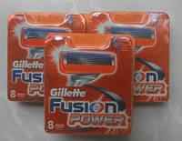 Сменные картриджи для бритья Gillette Fusion Power (8шт) Распродажа
